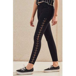PacSun Ankle Crop Lace Up Jegging Maila Wash Black
